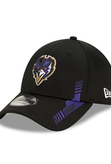 New Era Men's '21 39THIRTY Sideline Home Hat Baltimore Ravens Black