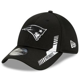 New Era Men's '21 39THIRTY Sideline Home Hat New England Patriots Black/White