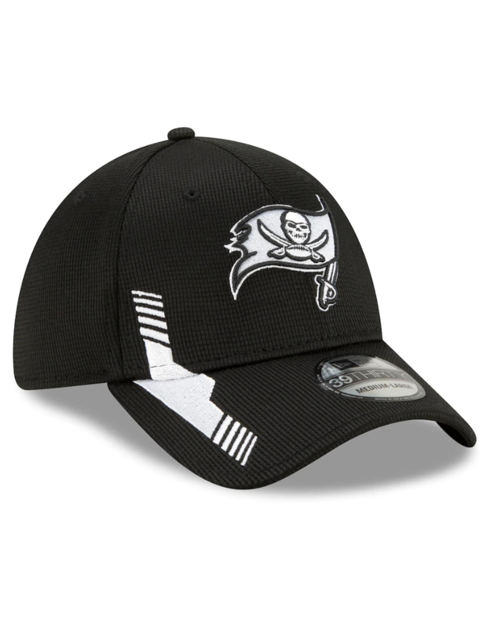 New Era Men's '21 39THIRTY Sideline Home Hat Tampa Bay Buccaneers Black/White