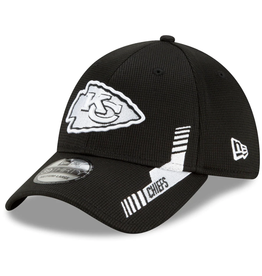 New Era Men's '21 39THIRTY Sideline Home Hat Kansas City Chiefs Black/White