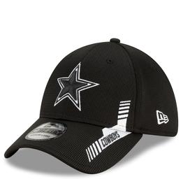 New Era Men's '21 39THIRTY Sideline Home Hat Dallas Cowboys Black/White