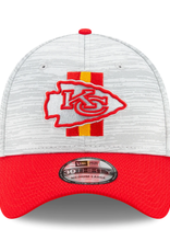 New Era '21 39THIRTY Official Training Hat Kansas City Chiefs Grey/Red