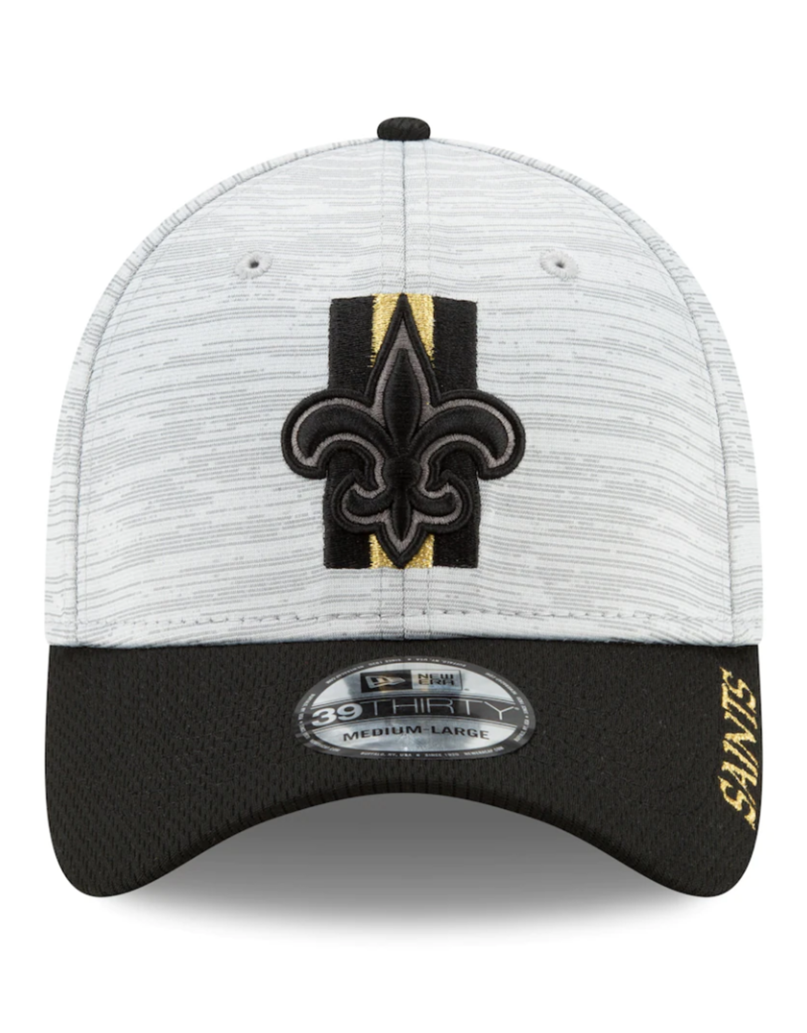 New Era '21 39THIRTY Official Training Hat New Orleans Saints Grey/Black