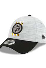 New Era '21 39THIRTY Official Training Hat Pittsburgh Steelers Grey/Black