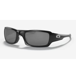 Oakley Fives Squared Black Iridium Polarized Polished Black Sunglasses