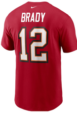 Nike Men's Player T-Shirt Tom Brady #12 Tampa Bay Buccaneers Red