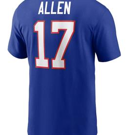 Nike Men's Player T-Shirt Allen #17 Buffalo Bills Blue