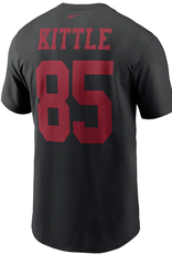 Nike Men's Player T-Shirt George Kittle #85 San Fransisco 49ers Black