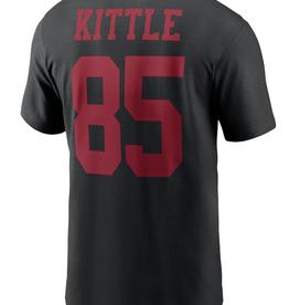 Nike Men'sPlayer T-Shirt Kittle #85 San Fransisco 49ers Black