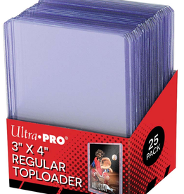 """Ultra Pro Toploader Card Holder 25 Pack 3"""" X 4"""""""