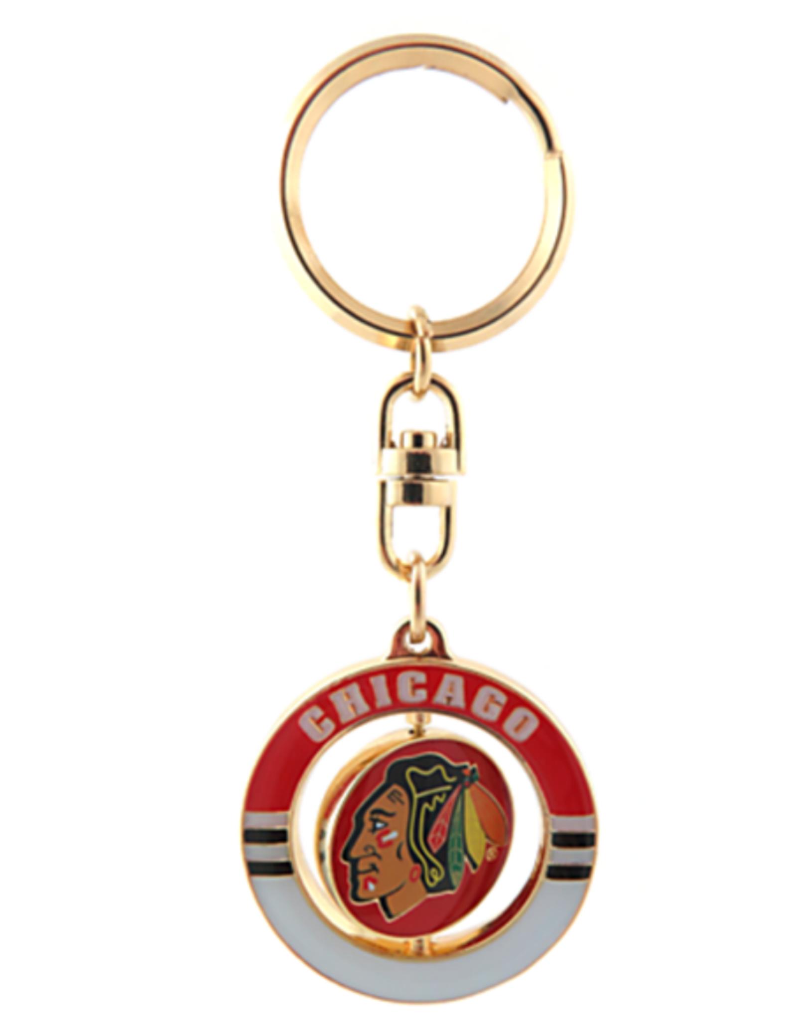 JF Sports Spinner Keychain Chicago Blackhawks