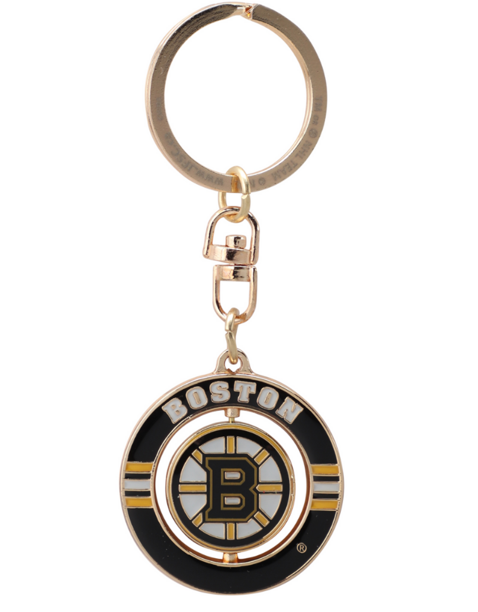 JF Sports Spinner Keychain Boston Bruins