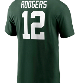 Nike Men's Player T-Shirt Rodgers #12 Green Bay Packers Green