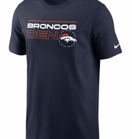 Nike Men's Broadcast T-shirt Denver Broncos Navy