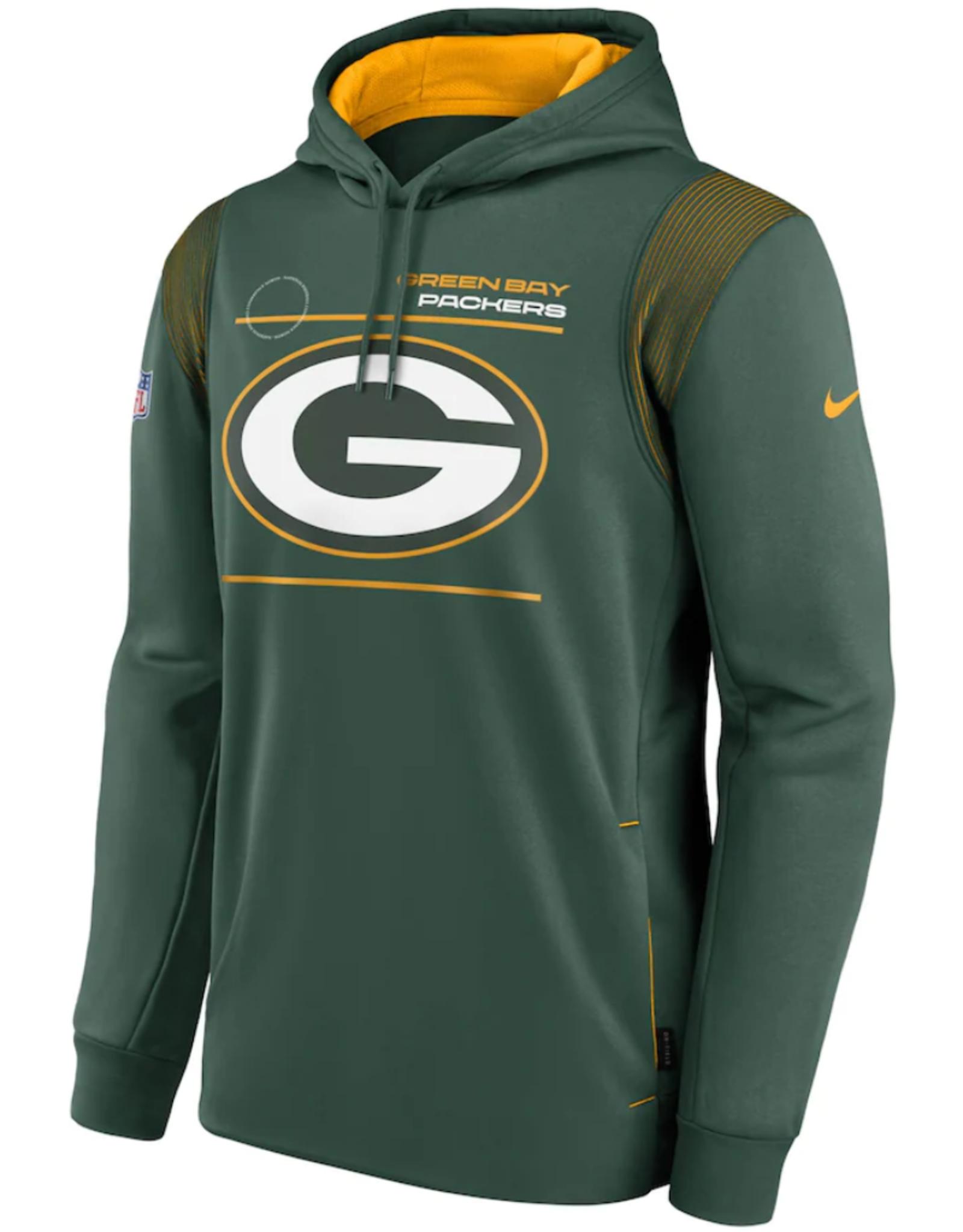 Nike Men's '21 Sideline Therma Hoodie Green Bay Packers Green