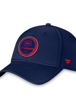 Fanatics Fanatics Authentic Pro Training Stretch Fit Hat Montreal Canadiens Navy