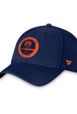 Fanatics Fanatics Authentic Pro Training Stretch Fit Hat Edmonton Oilers Navy