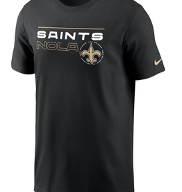 Nike Men's Broadcast T-shirt New Orleans Saints Black