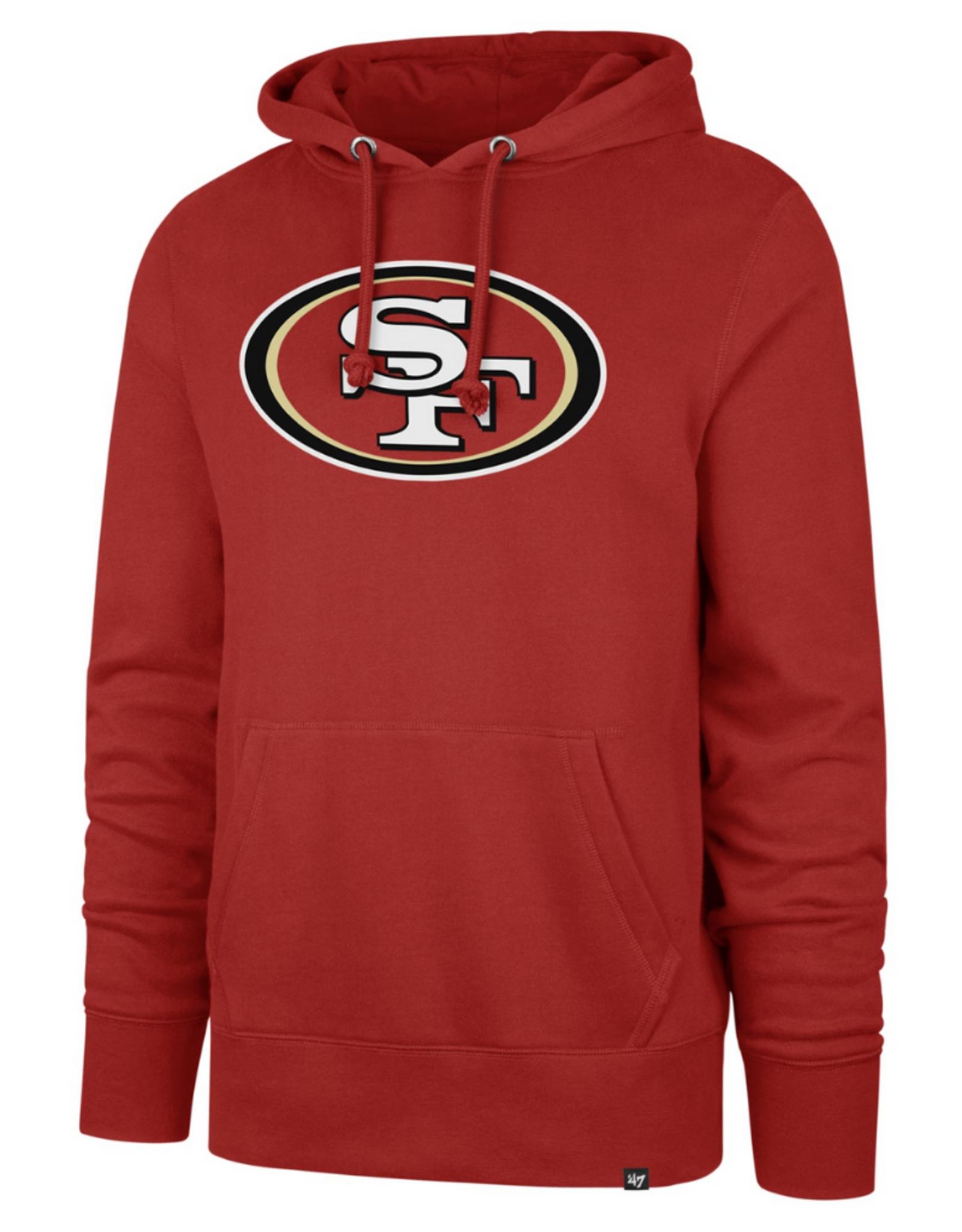 '47 Adult Imprint Headline Hoodie San Francisco 49ers Red