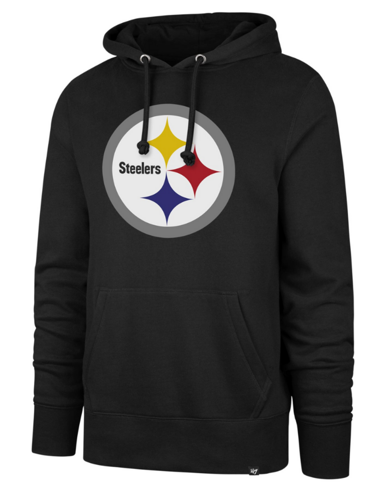 '47 Adult Imprint Headline Hoodie Pittsburgh Steelers Black