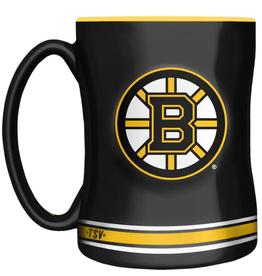The Sports Vault 14oz Sculpted Coffee Mug Boston Bruins
