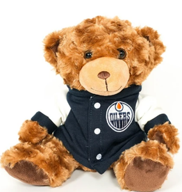 """Forever Collectables FOCO Seated Varsity Bear 10"""" Edmonton Oilers"""