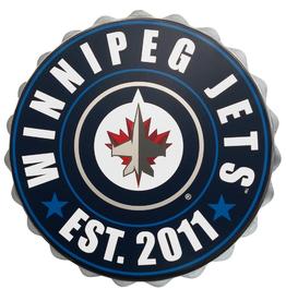 FOCO Bottle Cap Wall Logo Winnipeg Jets