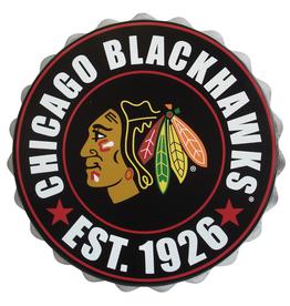 FOCO Bottle Cap Wall Logo Chicago Blackhawks