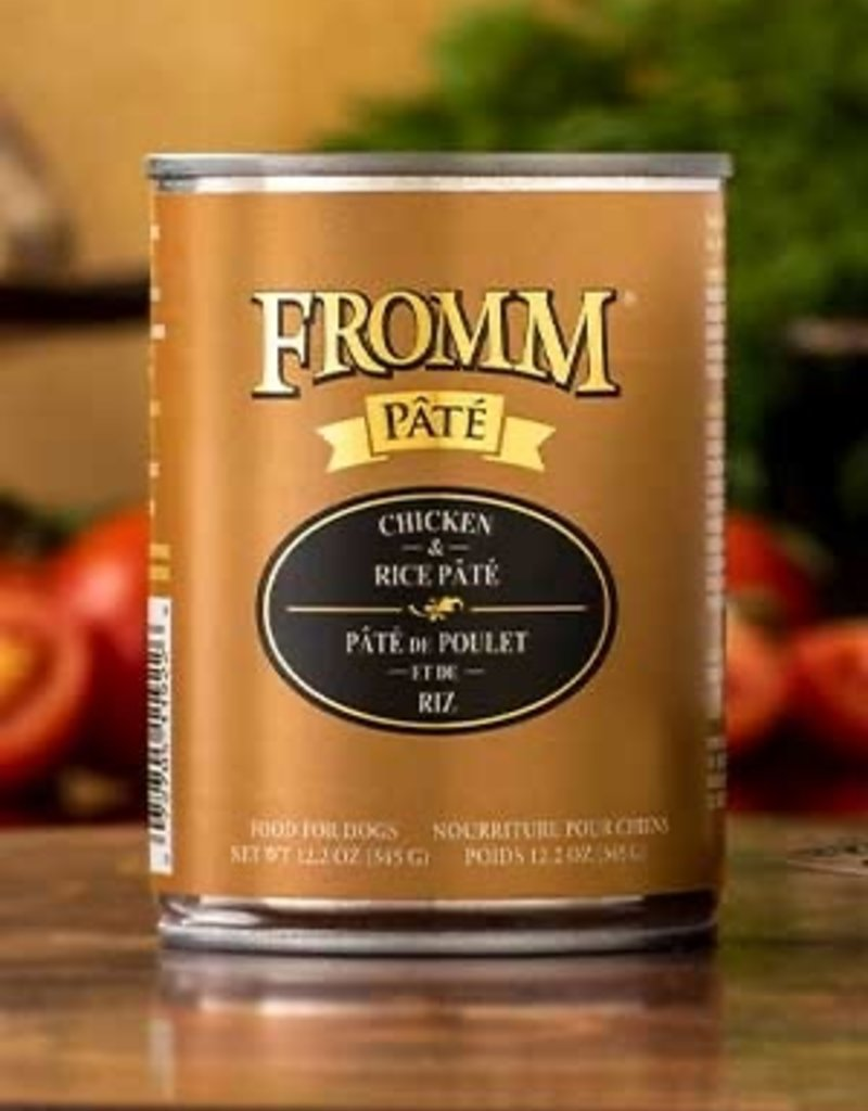 FROMM CHICKEN/RICE PATE 12 OZ