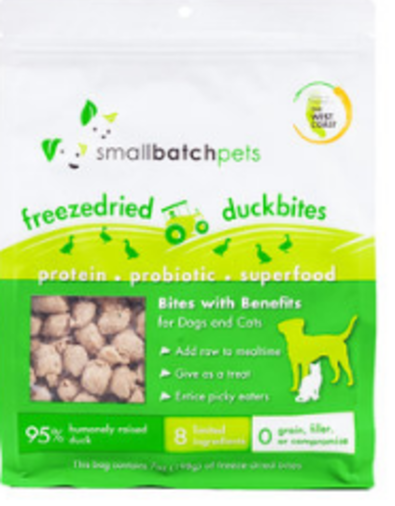 SMALL BATCH FREEZE-DRIED BITES DUCK 7 OZ