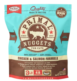 PRIMAL CHICKEN & SALMON FROZEN CAT 3 LB