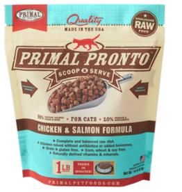 PRIMAL CHICKEN/SALMON FROZEN PRONTO CAT 1 LB