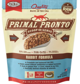 PRIMAL RABBIT FROZEN PRONTO CAT 1 LB