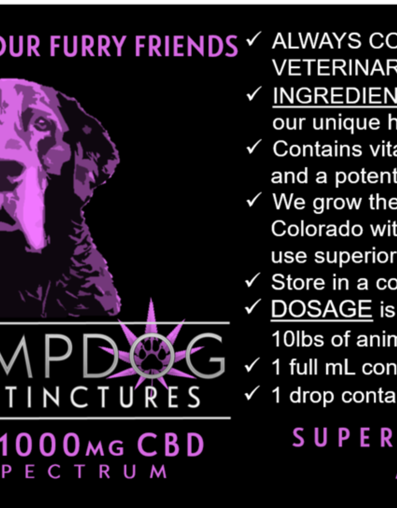 DR HEMPDOG 1000MG TINCTURE BOTTLE