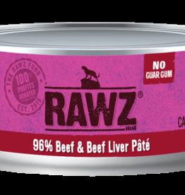 RAWZ BEEF & BEEF LIVER CAT 5.5OZ