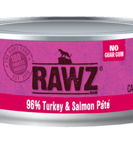 RAWZ TURKEY & SALMON CAT PATE 5.5OZ