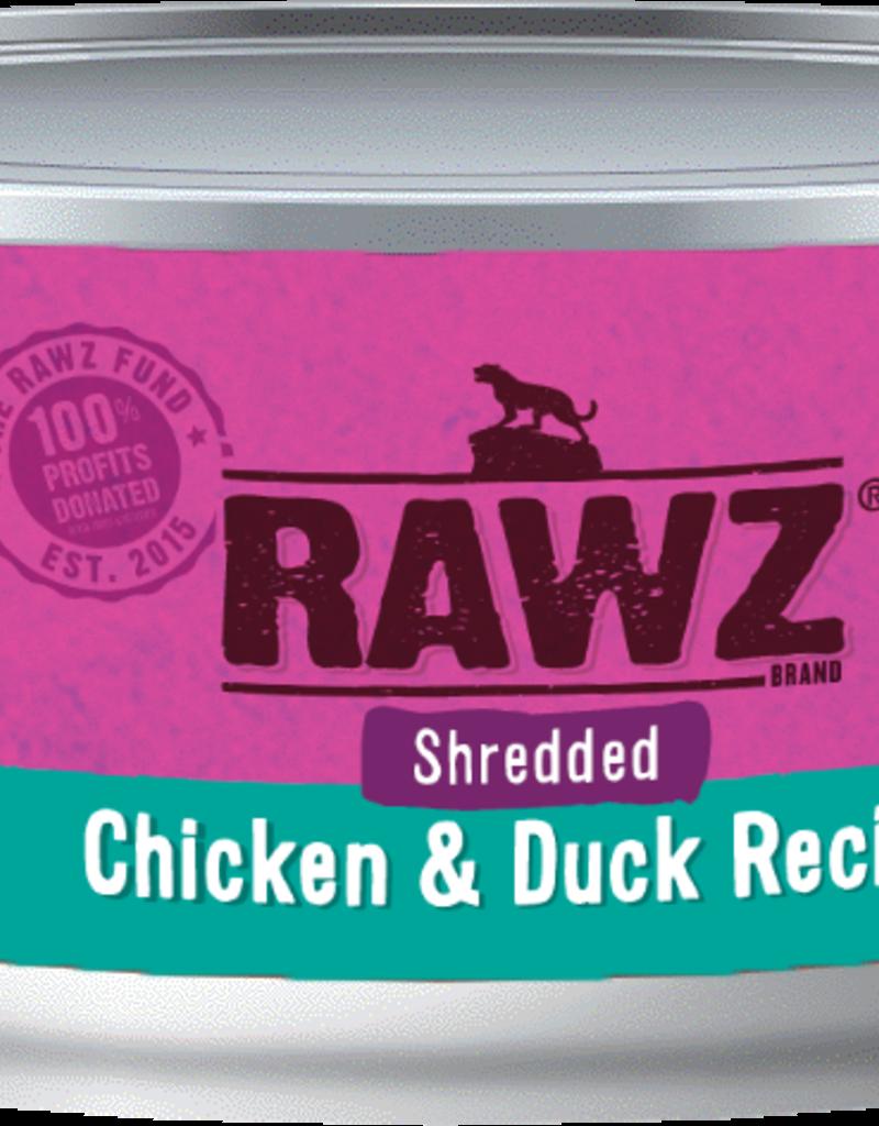 RAWZ CHICKEN/DUCK SHRED FOR CAT 5.5OZ