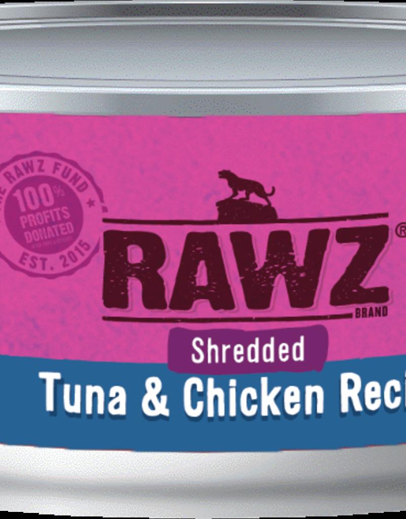 RAWZ TUNA & CHICKEN SHRED FOR CATS 5.5OZ