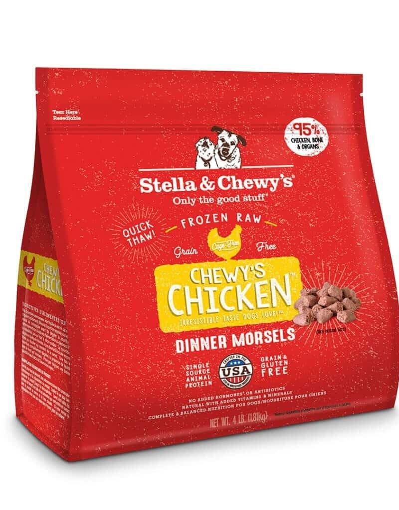 STELLA & CHEWY'S FROZEN CHICKEN MORSEL 4#