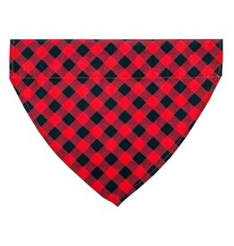 TALL TAILS Red Plaid Bandana