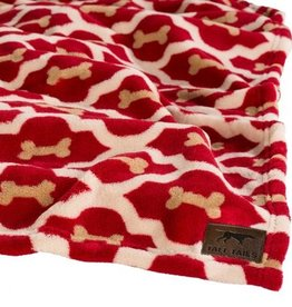 "TALL TAILS Tall Tails Blanket Red Bone 30""X40"""