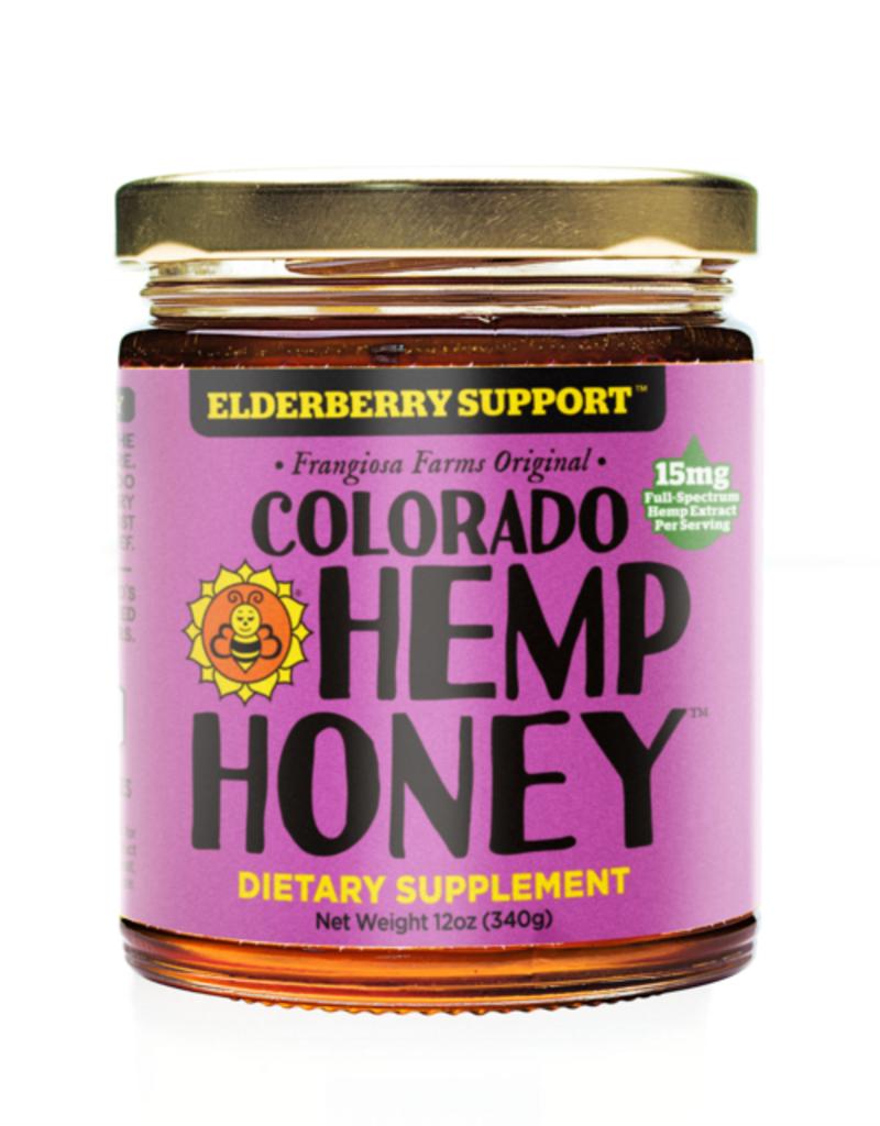 COLORADO HEMP HONEY ELDERBERRY 12OZ JAR