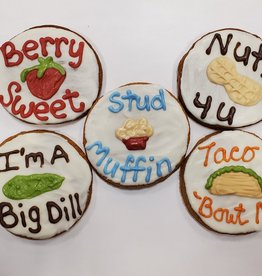 LEAPS & BONES Valentine Food Puns Biscuit