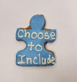 LEAPS & BONES Charity Biscuit Autism Families CT Puzzle Piece
