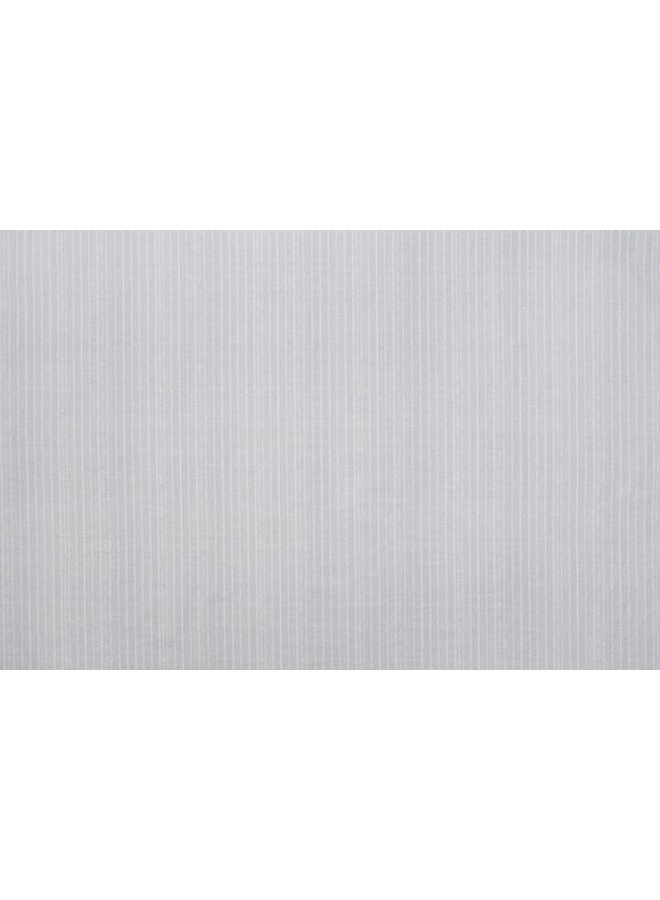 BENGAL PIN STRIP SILVER FABRIC BY THE YARD