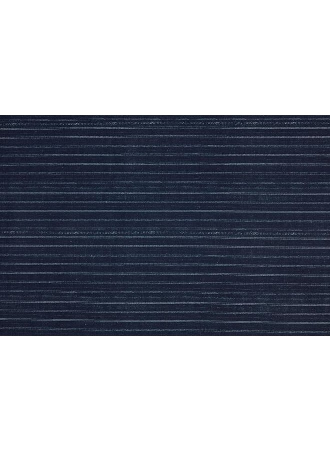 BENGAL PIN STRIP INDIGO FABRIC BY YARD