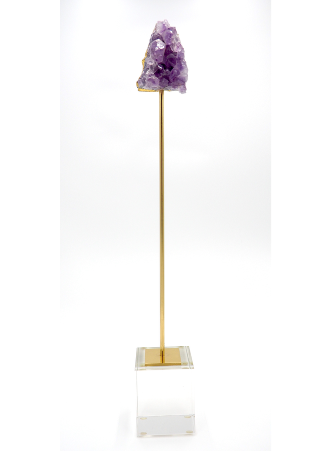 AMETHYST ON STAND - LARGE