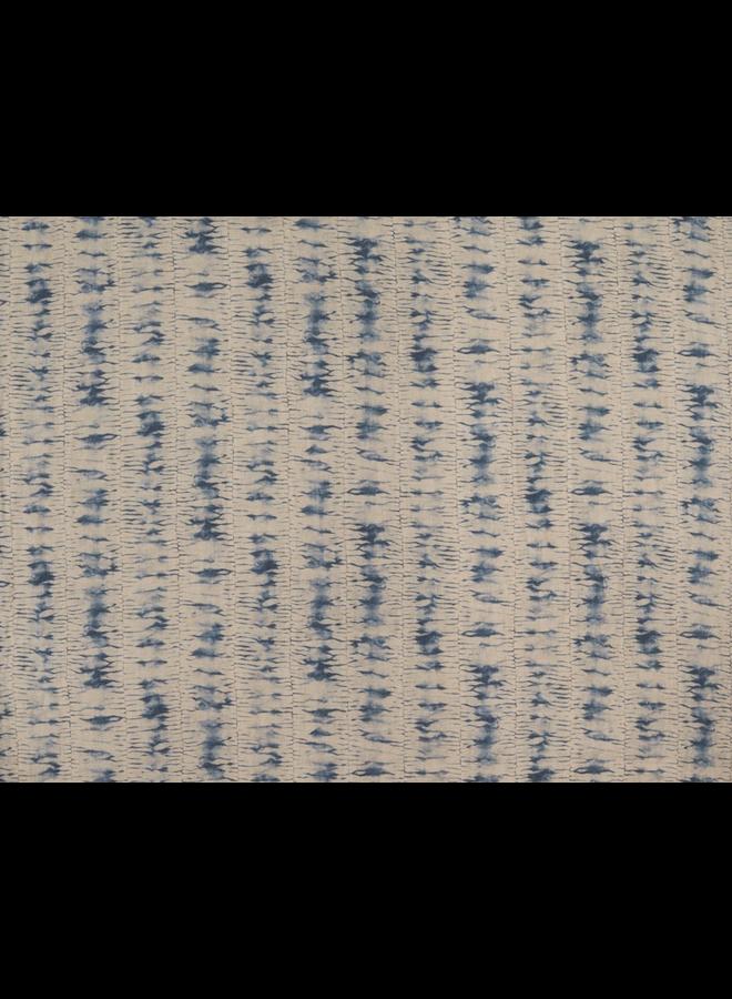 "TONTO OTTOMAN IN THIDA PERIWINKLE (J), 18""w x 14""h x 18""d"