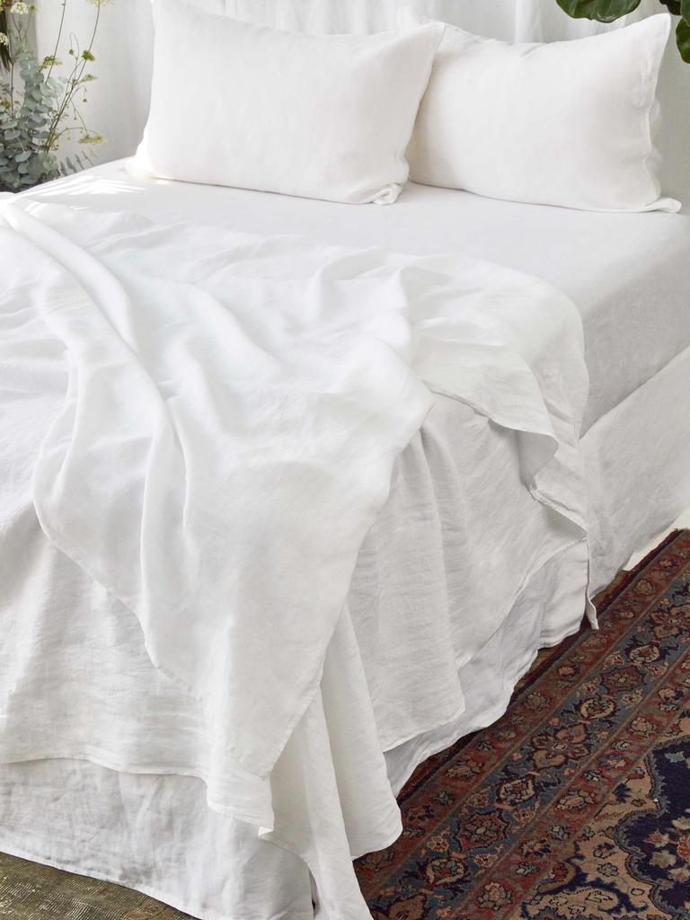 Vintage Linen White King Sheet Set Ella S