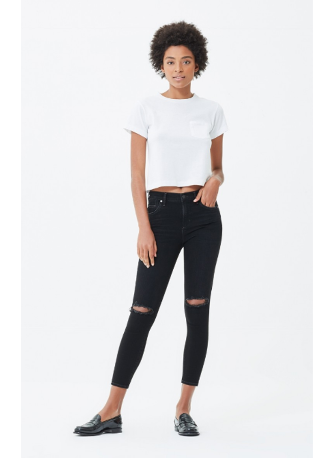 SIREN ROCKET CROP HIGH RISE SKINNY IN SIREN